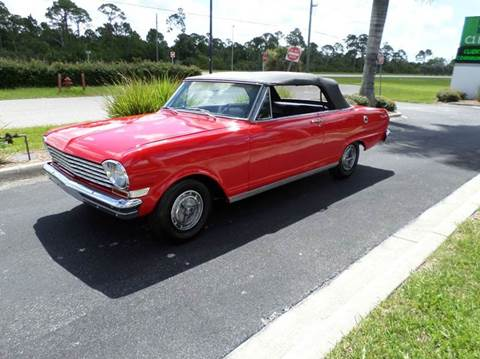 1963 Chevrolet Nova for sale at MUSCLE CAR CITY LLC in Punta Gorda FL
