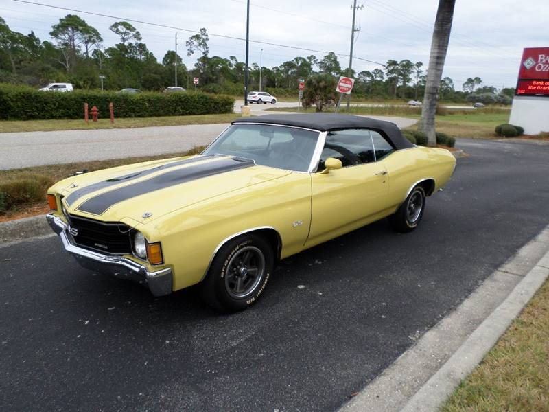 1972 Chevrolet Chevelle Ss 402 Convertible Super Sport In Punta