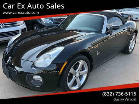 2007 Pontiac Solstice for sale at Car Ex Auto Sales in Houston TX