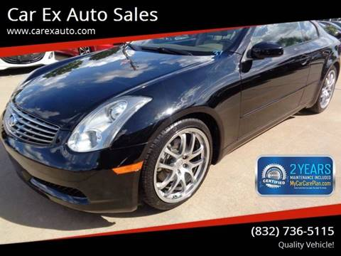 2006 Infiniti G35 for sale at Car Ex Auto Sales in Houston TX