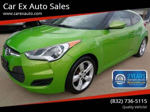 2012 Hyundai Veloster for sale at Car Ex Auto Sales in Houston TX