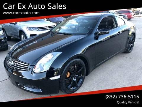 2004 Infiniti G35 for sale at Car Ex Auto Sales in Houston TX