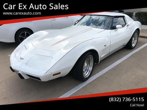 1977 Chevrolet Corvette for sale at Car Ex Auto Sales in Houston TX