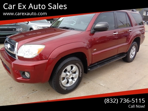 2007 Toyota 4Runner for sale at Car Ex Auto Sales in Houston TX