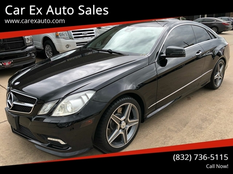 2010 Mercedes-Benz E-Class for sale at Car Ex Auto Sales in Houston TX