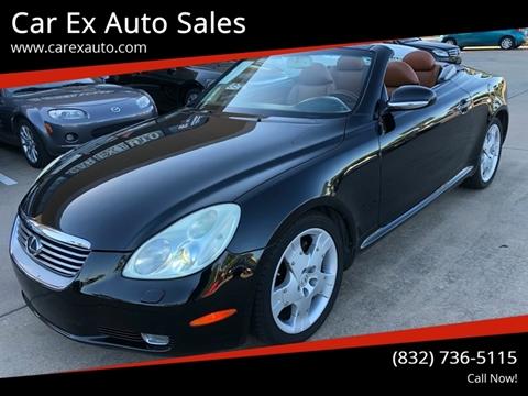 2002 Lexus SC 430 for sale at Car Ex Auto Sales in Houston TX