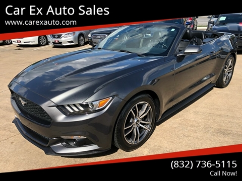 2015 Ford Mustang for sale at Car Ex Auto Sales in Houston TX