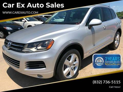 2012 Volkswagen Touareg for sale at Car Ex Auto Sales in Houston TX