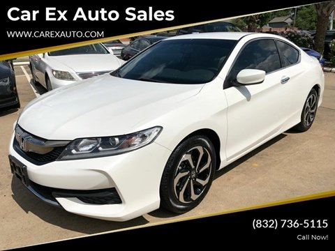 2016 Honda Accord for sale at Car Ex Auto Sales in Houston TX