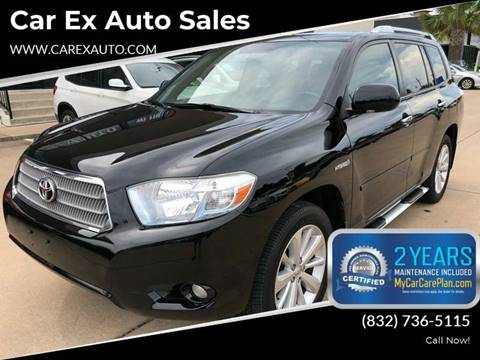 2008 Toyota Highlander Hybrid for sale at Car Ex Auto Sales in Houston TX