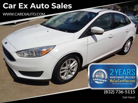 2015 Ford Focus for sale at Car Ex Auto Sales in Houston TX