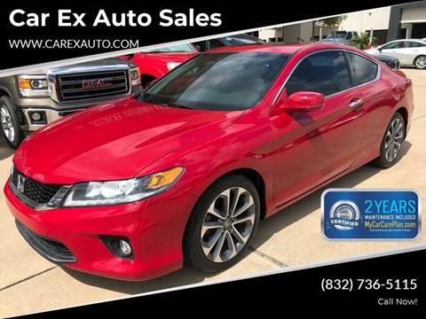 2013 Honda Accord for sale at Car Ex Auto Sales in Houston TX