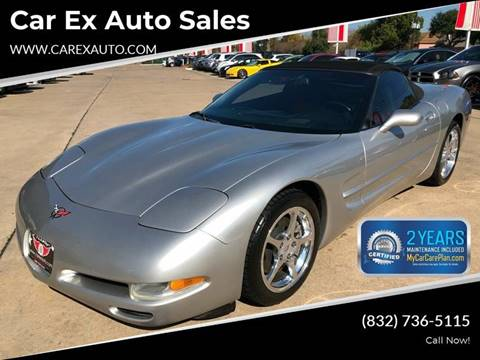 2004 Chevrolet Corvette for sale at Car Ex Auto Sales in Houston TX