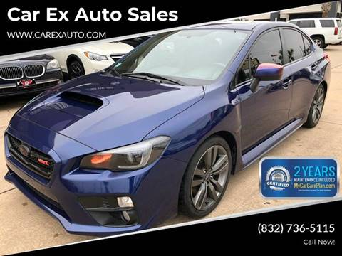 2017 Subaru WRX for sale at Car Ex Auto Sales in Houston TX