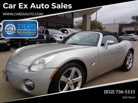 2008 Pontiac Solstice for sale at Car Ex Auto Sales in Houston TX
