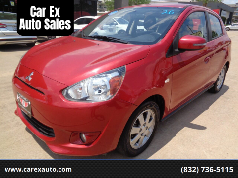 2015 Mitsubishi Mirage for sale at Car Ex Auto Sales in Houston TX
