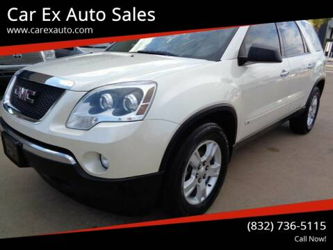 2010 GMC Acadia for sale at Car Ex Auto Sales in Houston TX