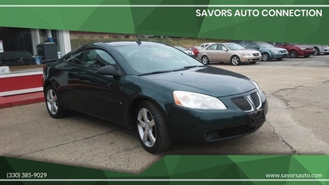 2006 Pontiac G6 GTP for sale at SAVORS AUTO CONNECTION LLC in East Liverpool OH