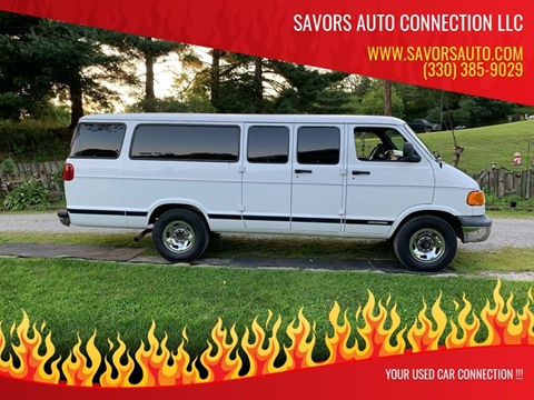 2001 Dodge Ram Wagon for sale at SAVORS AUTO CONNECTION LLC in East Liverpool OH