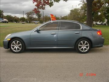2006 Infiniti G35 for sale at K D AUTO SALES in New Braunfels TX
