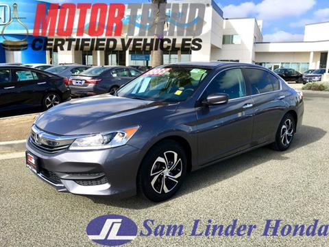 2016 Honda Accord for sale in Salinas, CA