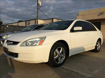 2003 Honda Accord for sale at Evolution Motors LLC in Dallas TX