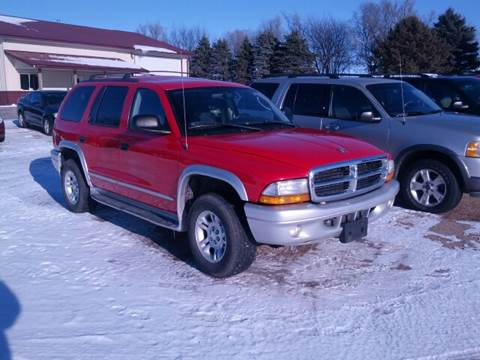 2003 Dodge Durango for sale at RDJ Auto Sales in Kerkhoven MN