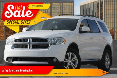 2013 Dodge Durango for sale at Ariay Sales and Leasing Inc. in Denver CO