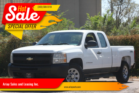 2011 Chevrolet Silverado 1500 for sale at Ariay Sales and Leasing Inc. in Denver CO