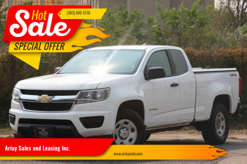2018 Chevrolet Colorado for sale at Ariay Sales and Leasing Inc. in Denver CO