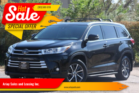 2018 Toyota Highlander for sale at Ariay Sales and Leasing Inc. in Denver CO