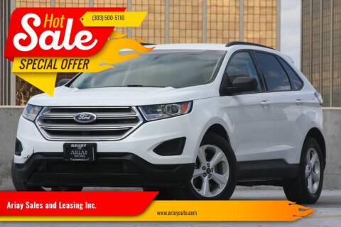 2016 Ford Edge for sale at Ariay Sales and Leasing Inc. in Denver CO