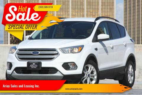 2018 Ford Escape for sale at Ariay Sales and Leasing Inc. in Denver CO