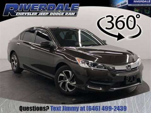 2016 Honda Accord LX for sale at RIVERDALE CHRYSLER JEEP in Bronx NY