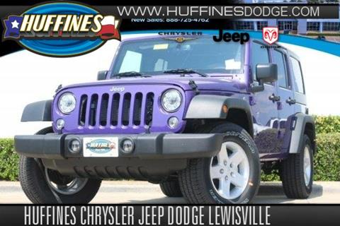 2017 Jeep Wrangler Unlimited for sale in Lewisville TX