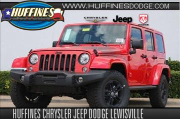 2017 Jeep Wrangler Unlimited for sale in Lewisville, TX