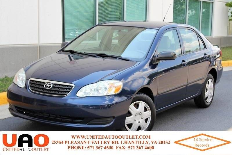 2008 Toyota Corolla For Sale At United Auto Outlet In Chantilly VA