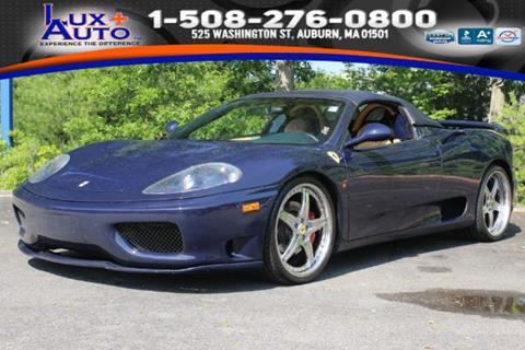 2002 Ferrari 360 Spider for sale in Auburn, MA