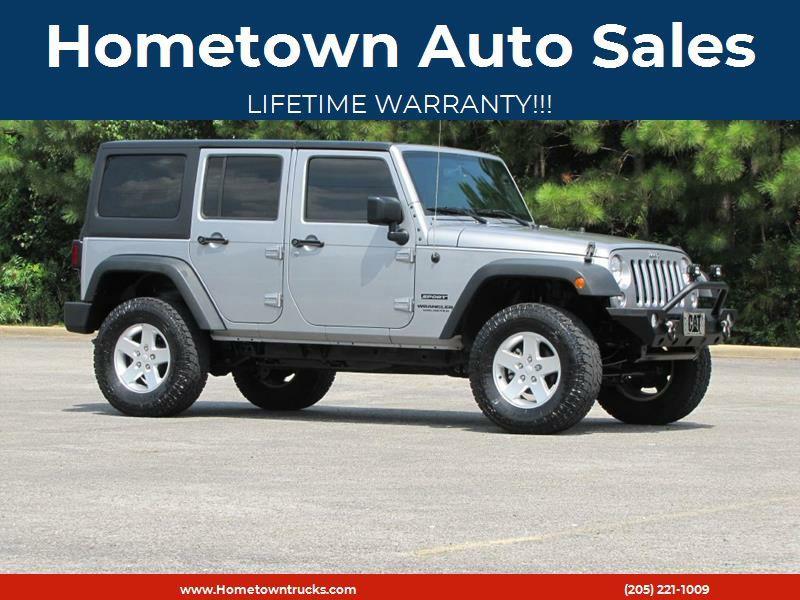 2015 jeep wrangler unlimited sport in jasper al hometown auto sales. Black Bedroom Furniture Sets. Home Design Ideas