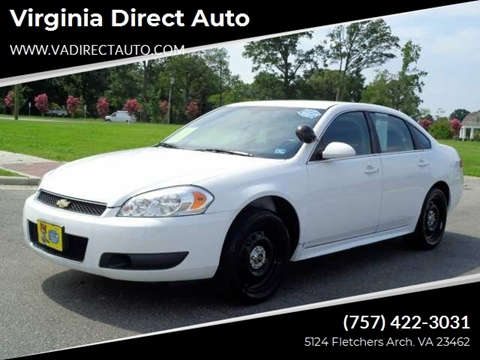 2014 Chevrolet Impala Limited Police for sale in Virginia Beach, VA