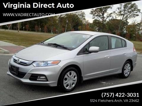 2012 Honda Insight for sale at Virginia Direct Auto in Virginia Beach VA