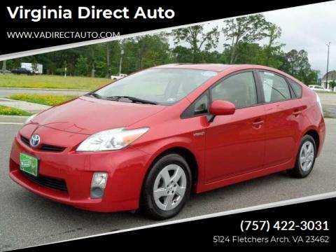 2011 Toyota Prius for sale at Virginia Direct Auto in Virginia Beach VA