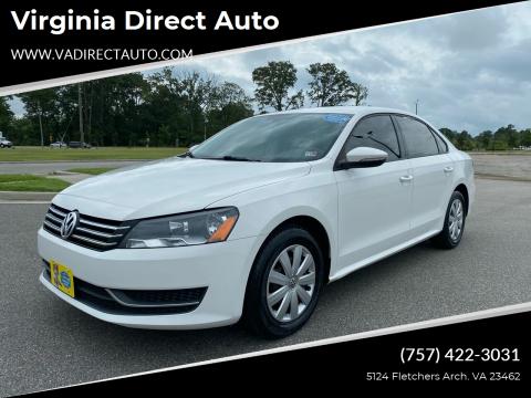 2012 Volkswagen Passat for sale at Virginia Direct Auto in Virginia Beach VA