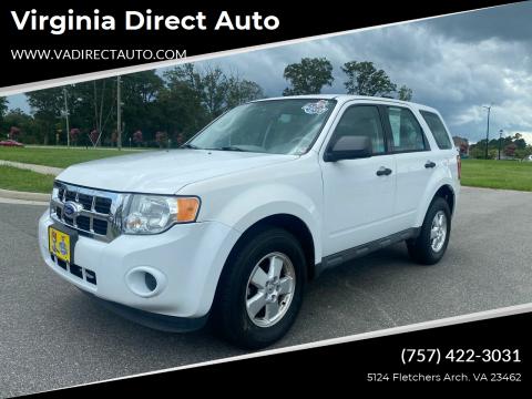 2012 Ford Escape for sale at Virginia Direct Auto in Virginia Beach VA