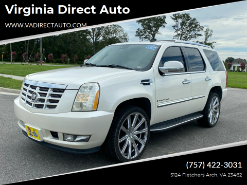 2007 Cadillac Escalade for sale at Virginia Direct Auto in Virginia Beach VA