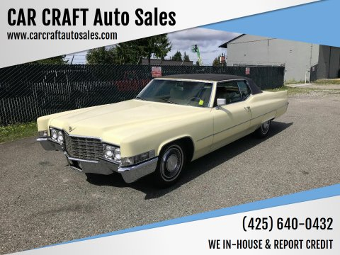 1969 Cadillac DeVille for sale at Car Craft Auto Sales Inc in Lynnwood WA