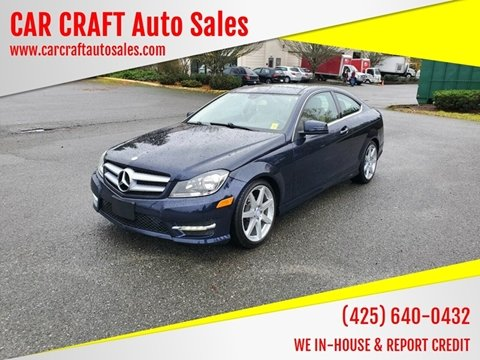 2013 Mercedes-Benz C-Class for sale in Lynnwood, WA