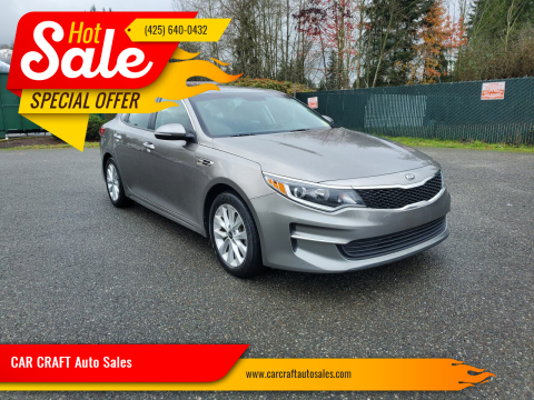 2016 Kia Optima for sale at Car Craft Auto Sales Inc in Lynnwood WA