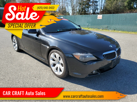 2007 BMW 6 Series for sale at Car Craft Auto Sales Inc in Lynnwood WA