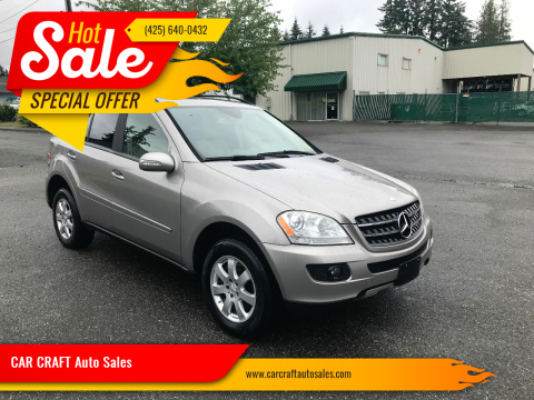 2007 Mercedes-Benz M-Class for sale at Car Craft Auto Sales Inc in Lynnwood WA